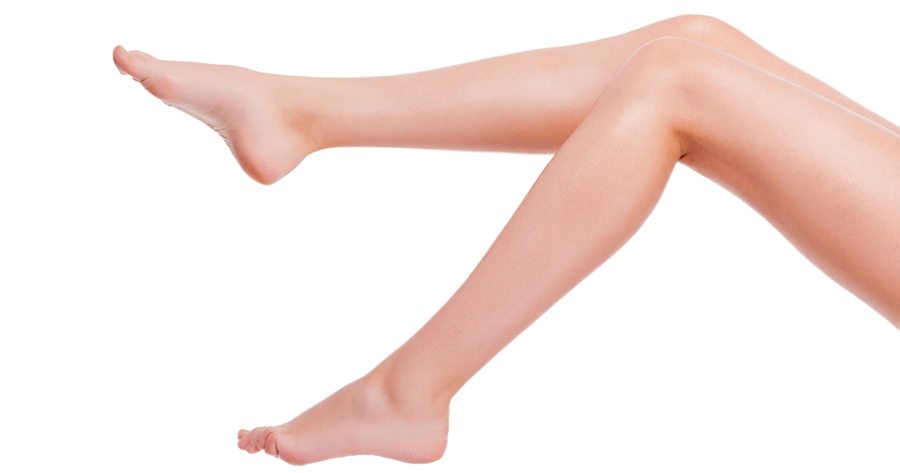 Healthy Legs with No Varicose Veins or Spider Veins