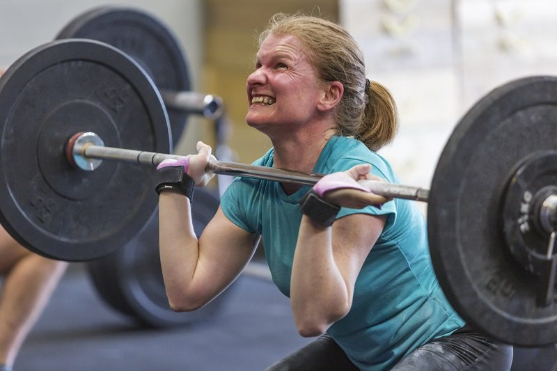 mature woman heavy weightlifting