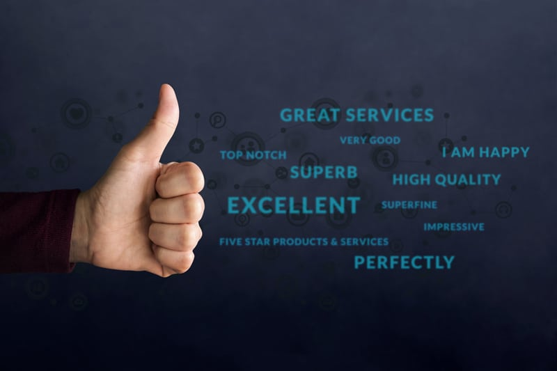 Thumbs Up for Great Services