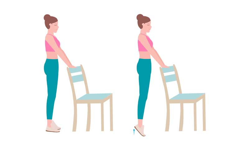 calf stretch vein exercise, calf exercises that can be done at home with chair