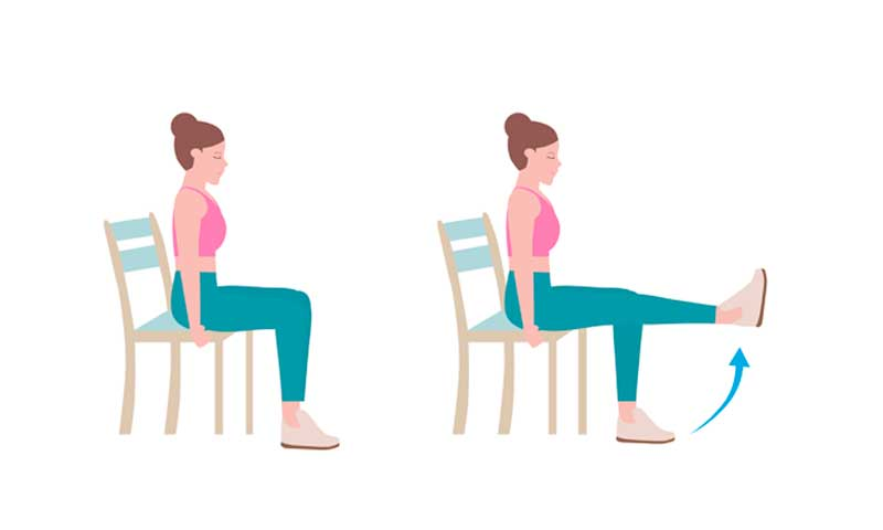 leg lift vein exercise, leg lift exercises that can be done at home with chair
